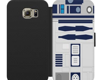 Star wars r2-d2 flip wallet phone case for iphone 4 5 6 7, Samsung s2 s3 s4 s5 s6 s7 s8 plus more
