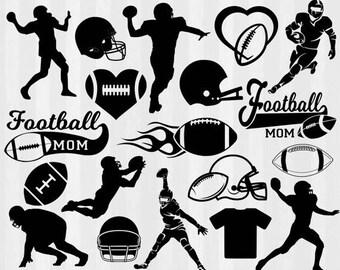 Football SVG, Football clipart, Football Silhouette, svg files, svg files for silhouette cameo or cricut, football mom, sports svg, cutfile