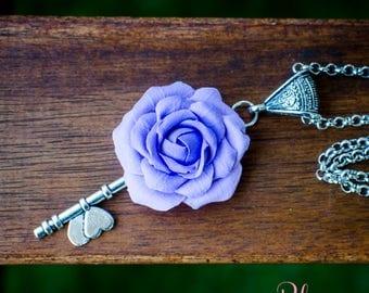 Necklace 'Purple Rose'