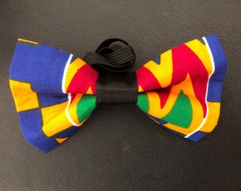 Blue/Yellow/Red/Green kente Bow Tie