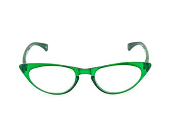 1950s 60s style Emerald Green CAT EYE Rxable frame or reading glasses clear to +3.00 NEW to original vintage design best seller 'Peggy''