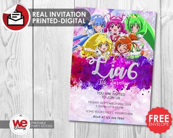 Glitter Force invitation, Glitter Force party,Glitter Force invite,Glitter Force birthday