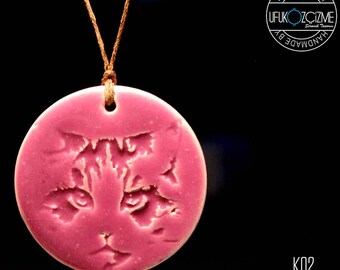 Cats - Handmade Ceramic Necklace