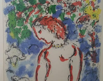 Marc Chagall Original Lithograph, Spring Day, from Derriere Le Miroir