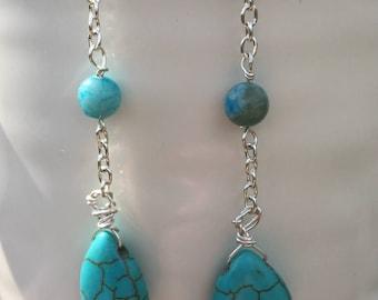 Turquoise & Jasper earrings