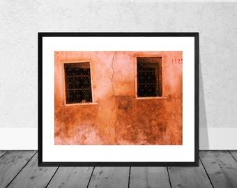 Morocco Art Print, Morocco Photography, Cracked Wall, Marrakech, Colour Photography, Home Décor, Architecture Photography