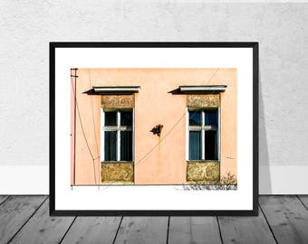 Poland Art Print, Poland Photography, Windows, Wroclaw, Colour Photography, Home Décor, Architecture Photography Wallart