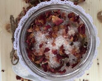 Natural Rose Bath Salts  | 100% Natural  | Serenity + Blossom