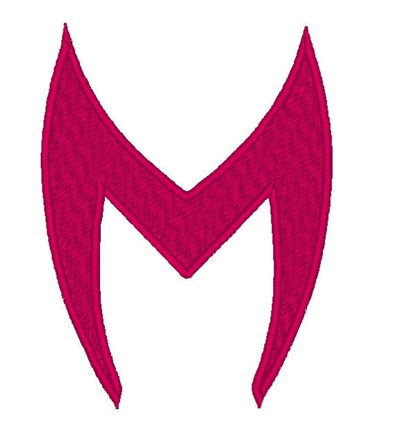 scarlet witch logo, avengers, machine embroidery design, three