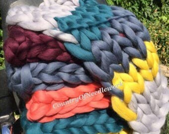 Chunky knit blanket, In stock, Blanket knitted, 100% merino wool. Available