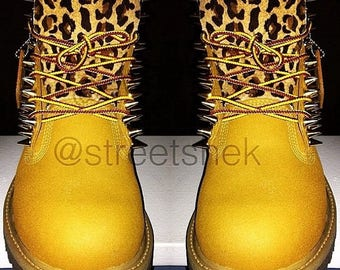 Custom Spiked Timberland boots