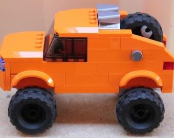 Orange Lego Rally Racer