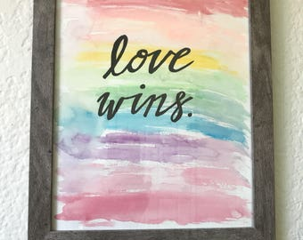 Love Wins Sign