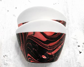 Pink and Black Medium Bowl