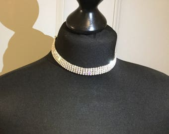 Crystal diamanté choker