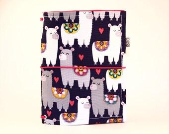 CUSTOM Fabric Traveler's Notebook. Fabric Dori. Fauxdori Cover. Planner Cover. Fabric Midori. Fabric Journal Cover. Llama Love Planners.
