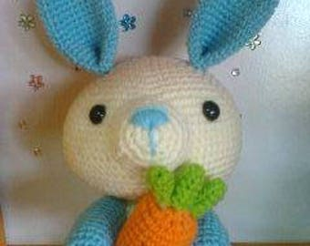 sweety rabbit with carrot 7""