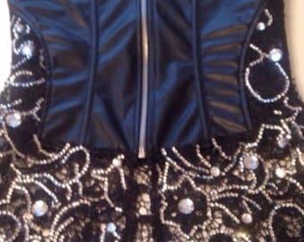 Black Faux Leather Corset Dress