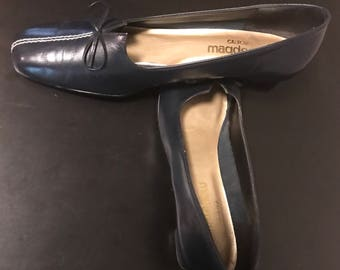 60's Magdesians of California Tailored Shoes. Navy 9.5 Narrow. Vintage;Like New.