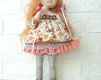 Author's boudoir doll made of polymer clay. Alice.