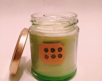 Handmade Soy Candle Vegan - Green
