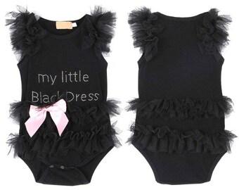 little black dress, baby girl dress, tutu dress, baby outfit, baby girl