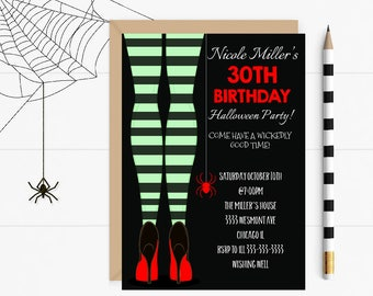 Halloween birthday invitation, halloween party invitation, halloween invitation, halloween birthday invitation, Halloween milestone invite