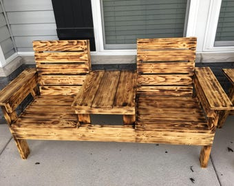 Wood Torched Outdoor Chair
