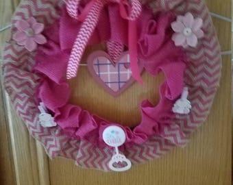 Baby Shower Wreath, Its a Girl Wreath, Baby shower Decor, Baby girl wreath
