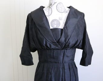 Vintage 50s Suzy Perrette black cocktail dress