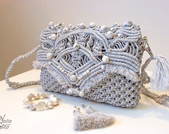 Handmade Knitted Handbag Clutch Bag