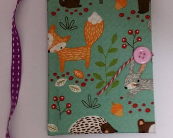 Woodland Fabric Covered Notebook A6