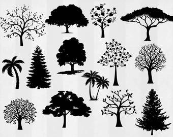 Tree SVG Bundle, Tree clipart, Tree cut files, svg files for silhouette, files for cricut, svg, dxf, eps, cuttable design