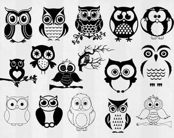 Owl SVG Bundle, Owl clipart, Owl cut files, Owl svg files for silhouette, Owl files for cricut, Owl svg, Owl dxf, Owl eps, cuttable design