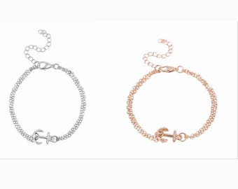 anchor bracelet silver or gold