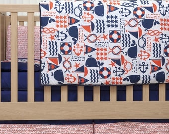 Baby Bedding Set - The Deep Blue Sea Bedding Collection - 100% Cotton- The Essential Range