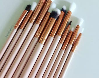Pretty in Pink ~ 12 piece Pink Eyeshadow Makeup Brush set