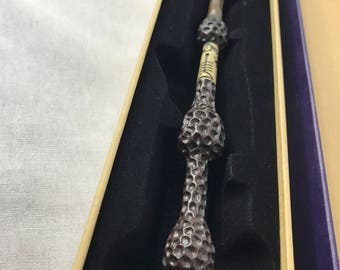 Inspired by The Elder Wand Dumbledore Replica Metal Core Wand with Collectible Velvet Box Harry Potter Inspired Cosplay Heavy  Beautiful