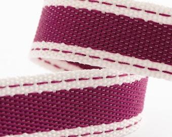 Ribbon - 15mm x 10m Cotton Twill Ribbon - Fushia