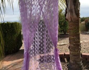 Folding Purple Lace Play Canopy