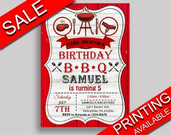 Bbq Birthday Invitation Editable Birthday Party Invitation Bbq Birthday Party Editable Invitation Boy Girl grill cookout barbecue 7JCWQ