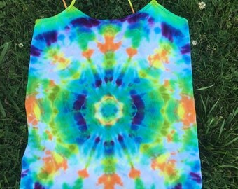 Womens Large Tie Dye Cami/Tank Top