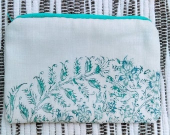 """Greek Paisley with Teal Zipper Tall 7"""" x 5"""" (1 of 5)"""