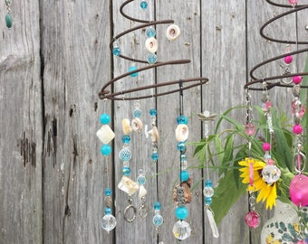 Beachy Teal and Crystal Whimsy
