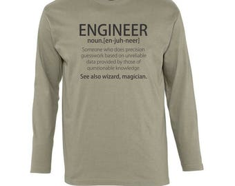 Engineer Long Sleeves T-shirt - available in many sizes and colours