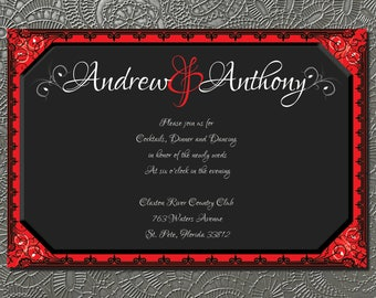 wedding reception printable, LGBT reception, custom design,
