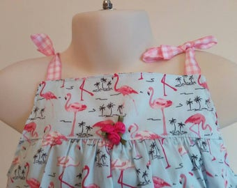 Flamingo dress 4/5 years old