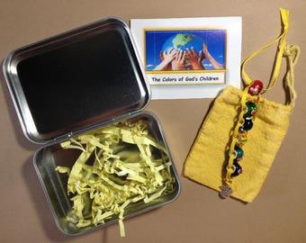 Gift Set - The Colors of God's Children Devotional Beads (c)