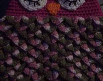 Baby Owl Crochet Cocoon Photo Prop