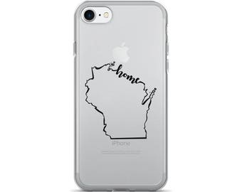 Wisconsin Home State - iPhone Case (iPhone 7/7 Plus, iPhone 8/8 Plus, iPhone X)